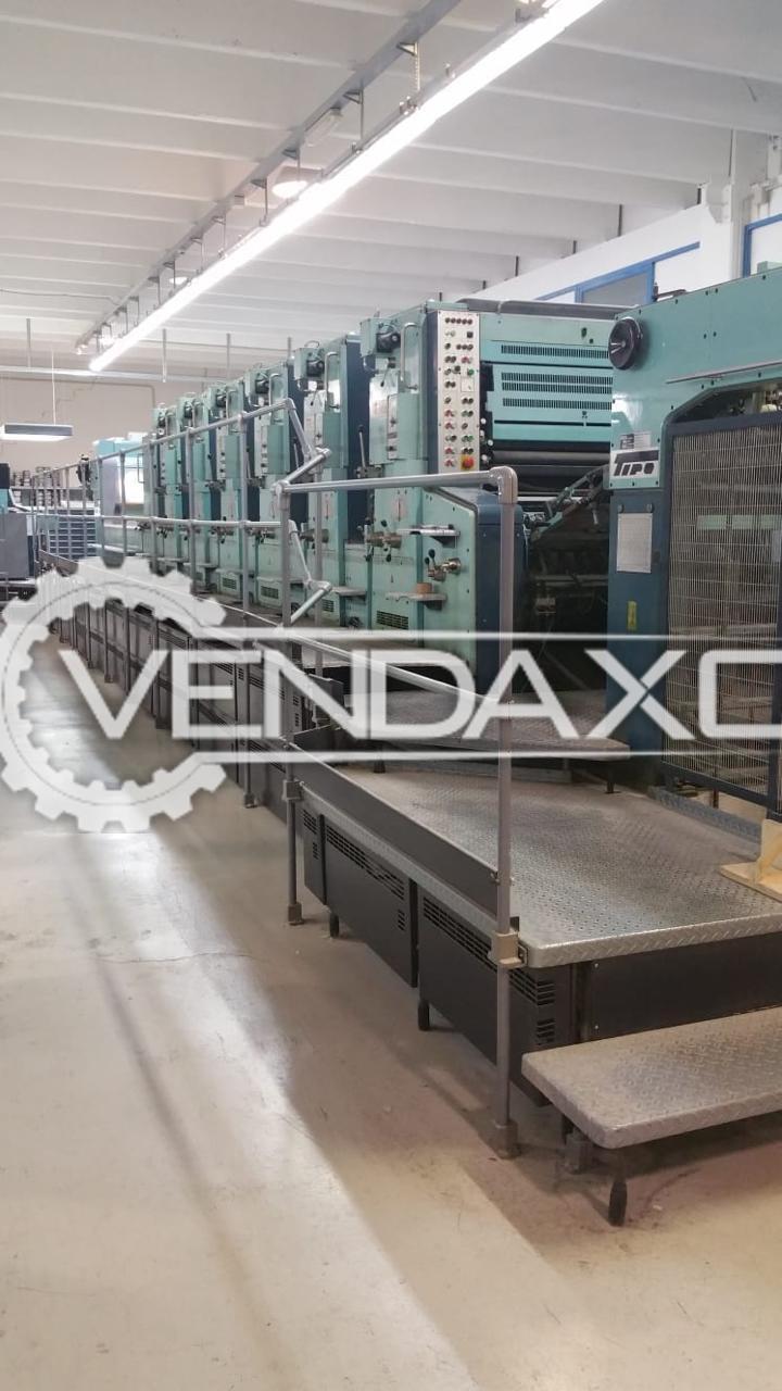 Planeta Offset Printing Machine - 28 X 40 Inch, 6 Color