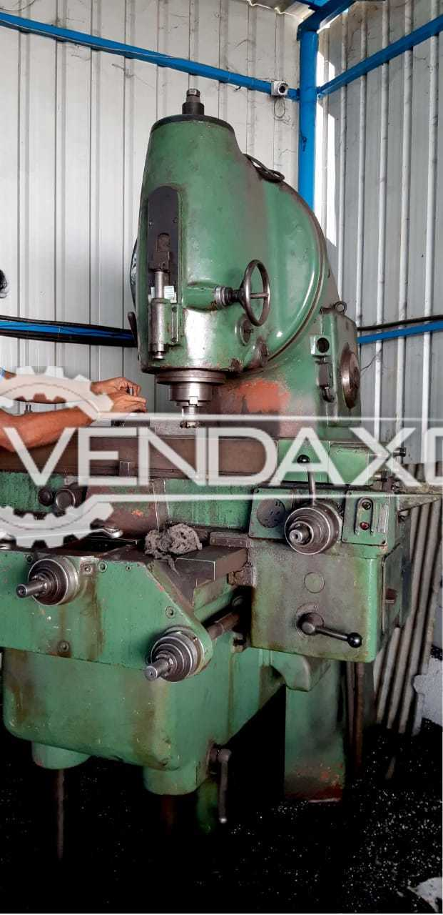TOS No.5 Vertical Milling Machine - Table Size - 2000 x 450 mm