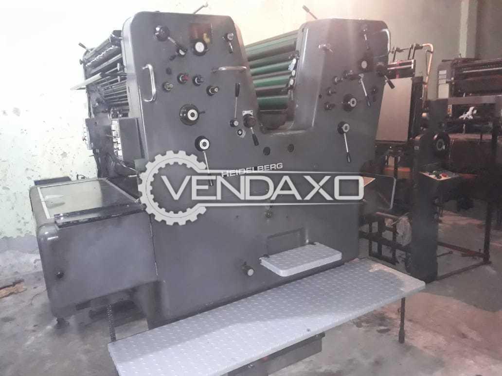 HEIDELBERG SORDZ 523 Offset Printing Machine - 2 Color