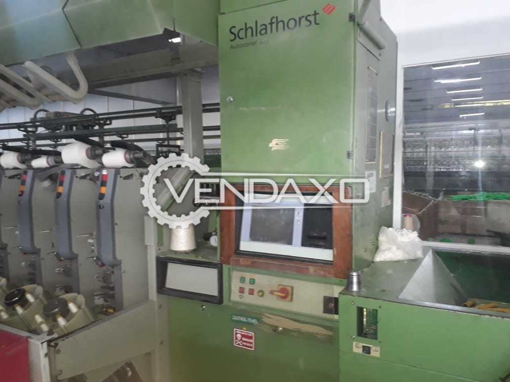 Schlafhorst 338 Autoconer Winding Machine - 60 Drum, 2000 Model
