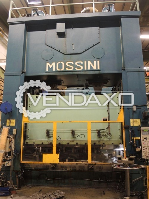 Mossini Make PDM/2B 800 Mechanical Press Line - 800 Ton