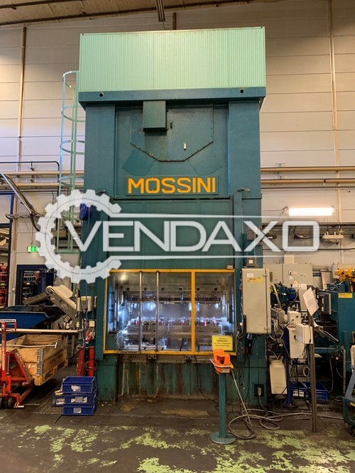 Mossini Make PDM 2Bx400 Mechanical Press Line - 400 Ton