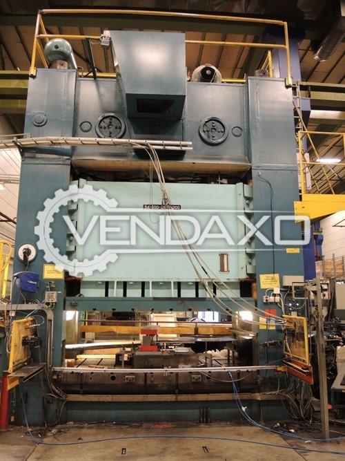 Cowlishaw Walker Make Co S4-600-2800-300 Mechanical Press Line - 600 Ton