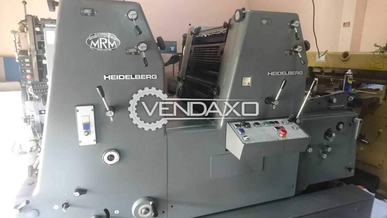 HEIDELBERG GTO 52ZNP Offset Printing Machine - 14.5 X 20.5 Inch, 2 Color