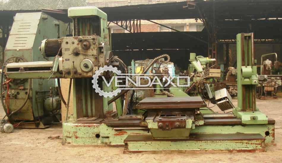 TOS W100 Horizontal Boring Machine - 1250 x 1250 mm