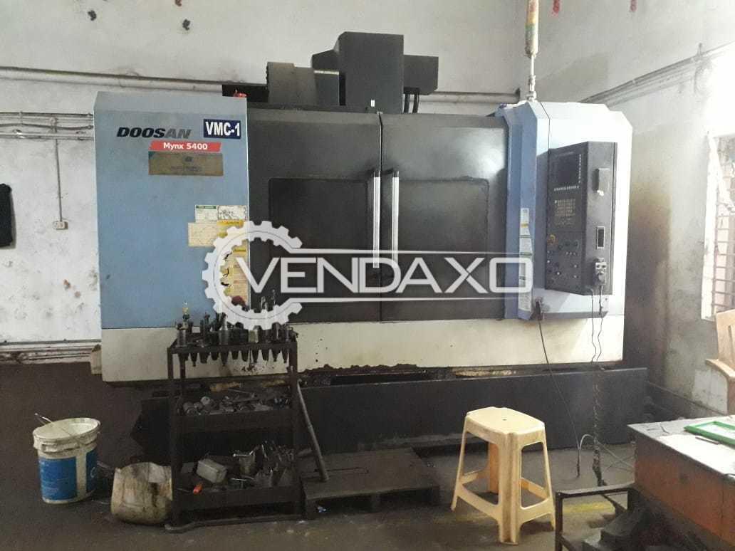 Doosan MYNX 5400/40 CNC Vertical Machining Center - Table Size - 1200 X 540 mm