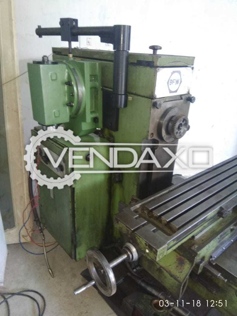 BFW Make V&H Milling Machine - Size - 1 Inch
