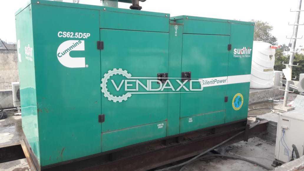 Cummins Silent Diesel Generator - 62 kva