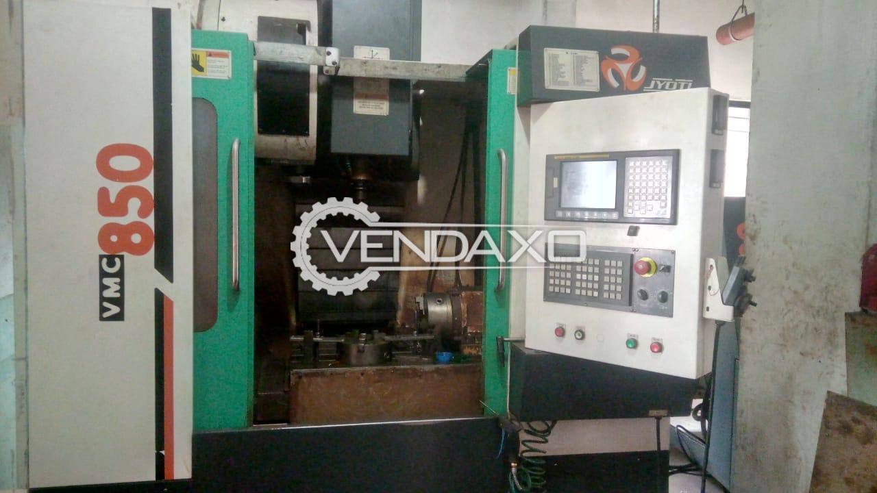 JYOTI 850 CNC Vertical Machining Center - Table Size - 1000 X 530 mm