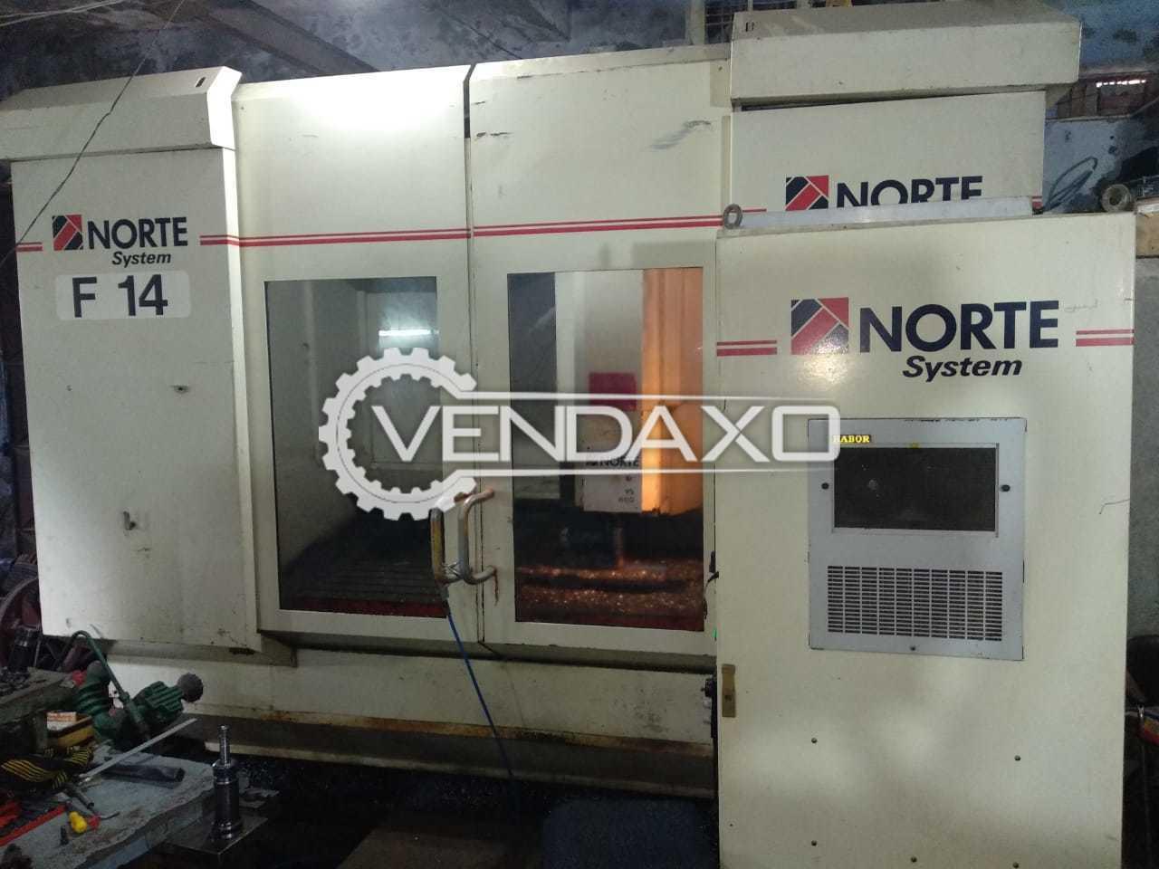 NORTE Make VS 500 CNC Vertical Machining Center - Table Size - 2000 x 500 mm