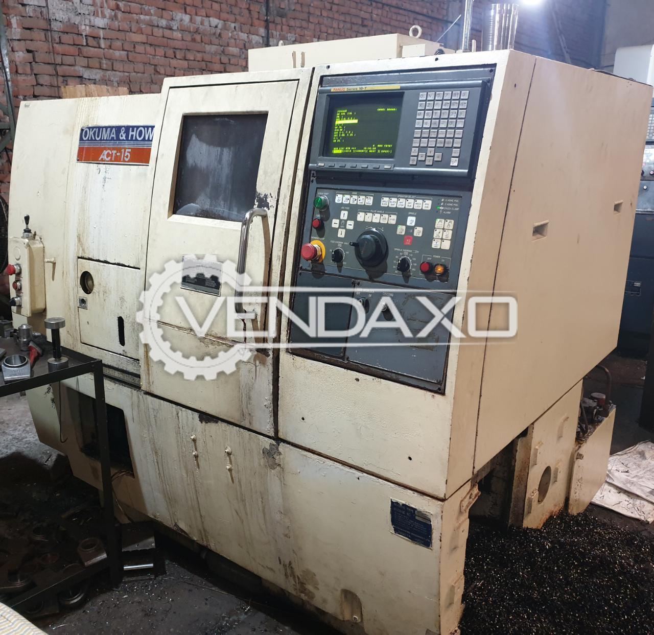OKUMA ACT 15 CNC Lathe Machine - Turning Length - 320 mm