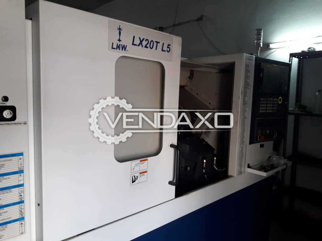 LMW LX20T L5 CNC Turning Center - Turning Length - 500 mm