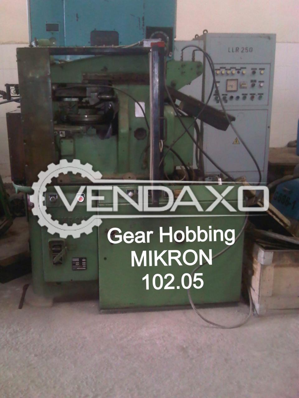 Mikron 102.05 Gear Hobbing Machine - Diameter - 120 mm, 2 Module