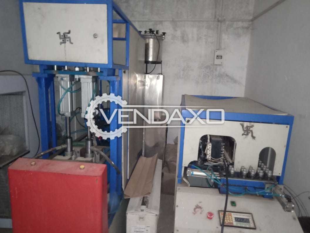 Semi Automatic PET Bottle Moulding Machine - 20 Bottle Per Min