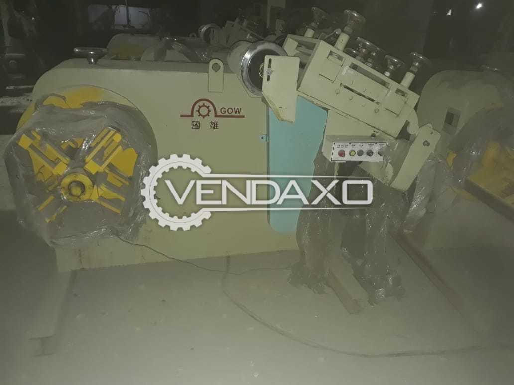 4 Set Of Chun Shin SGO-300 Coil Feeder Machine - Width - 300 mm