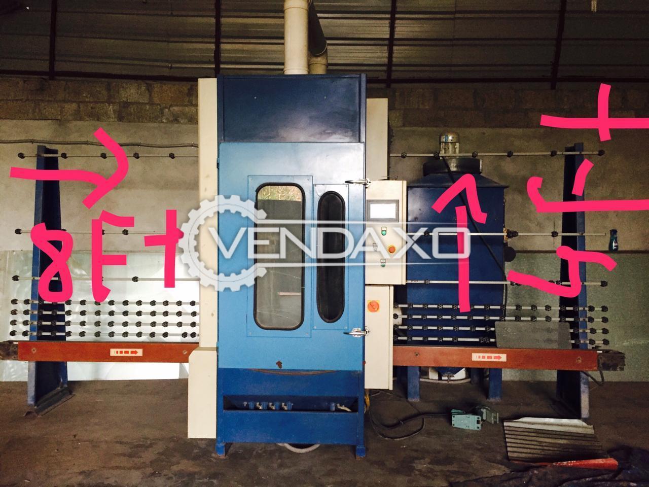 Automatic Glass Sand Blasting Machine - 8 x 4 Feet