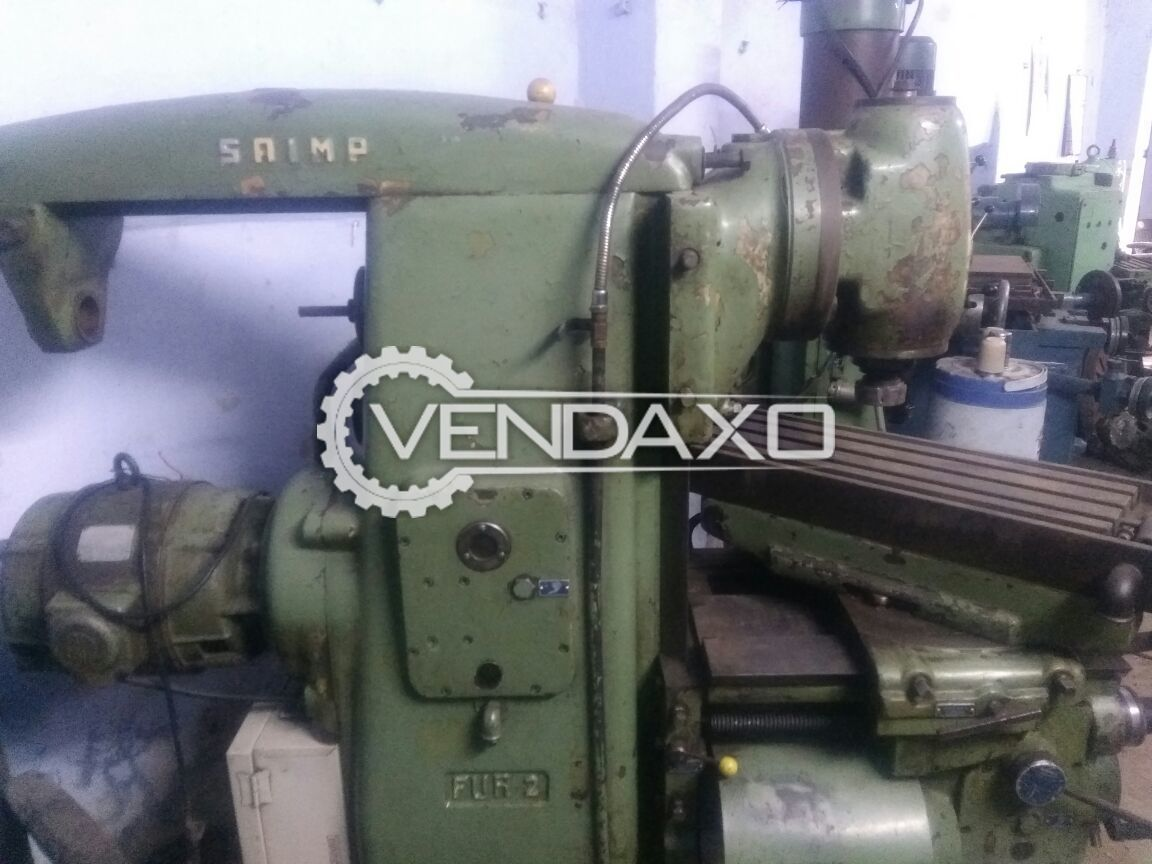Horizontal and vertical milling machine size no 3 4