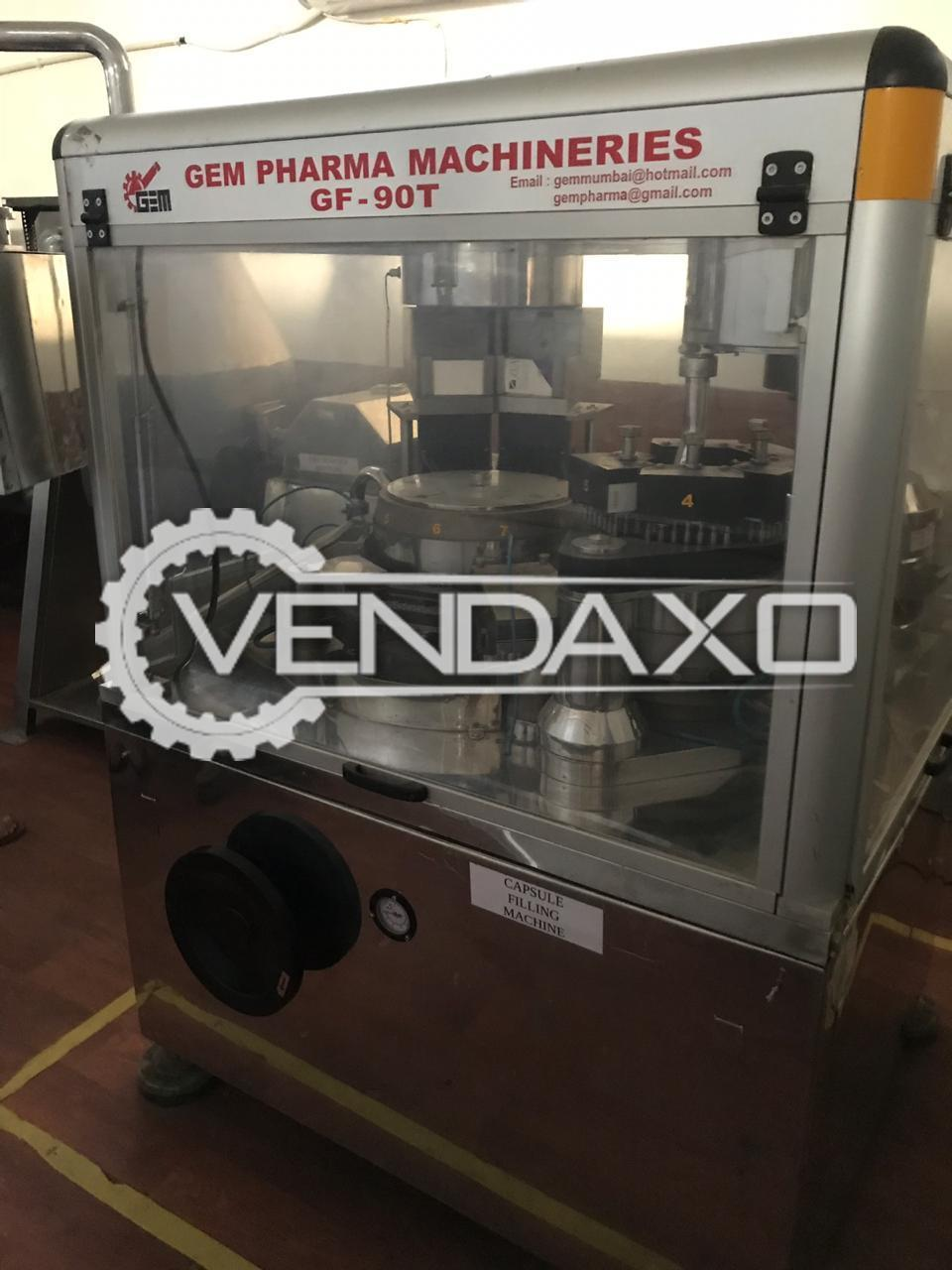 GEM  GF 90 T Pharma Capsule Filling Machine