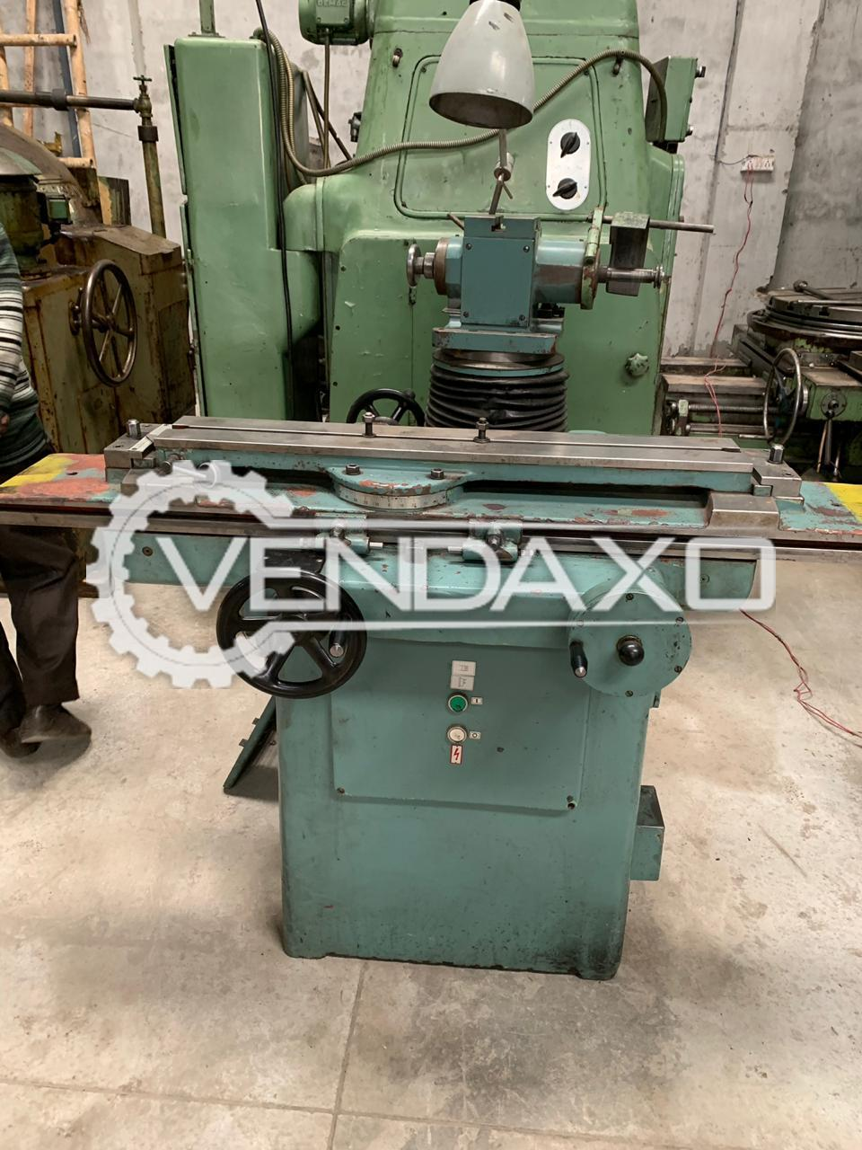Used 2 Set Of TOS BN102A Universal Tool Cutter & Grinder - Table