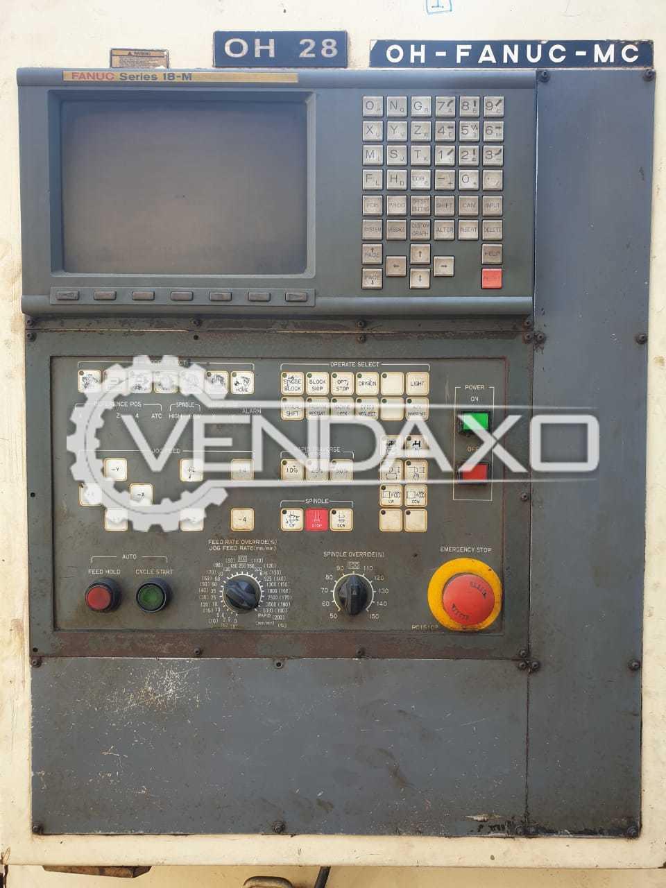 Used OKUMA & HOWA Millac 511V CNC Vertical Machining Center - 1000 x