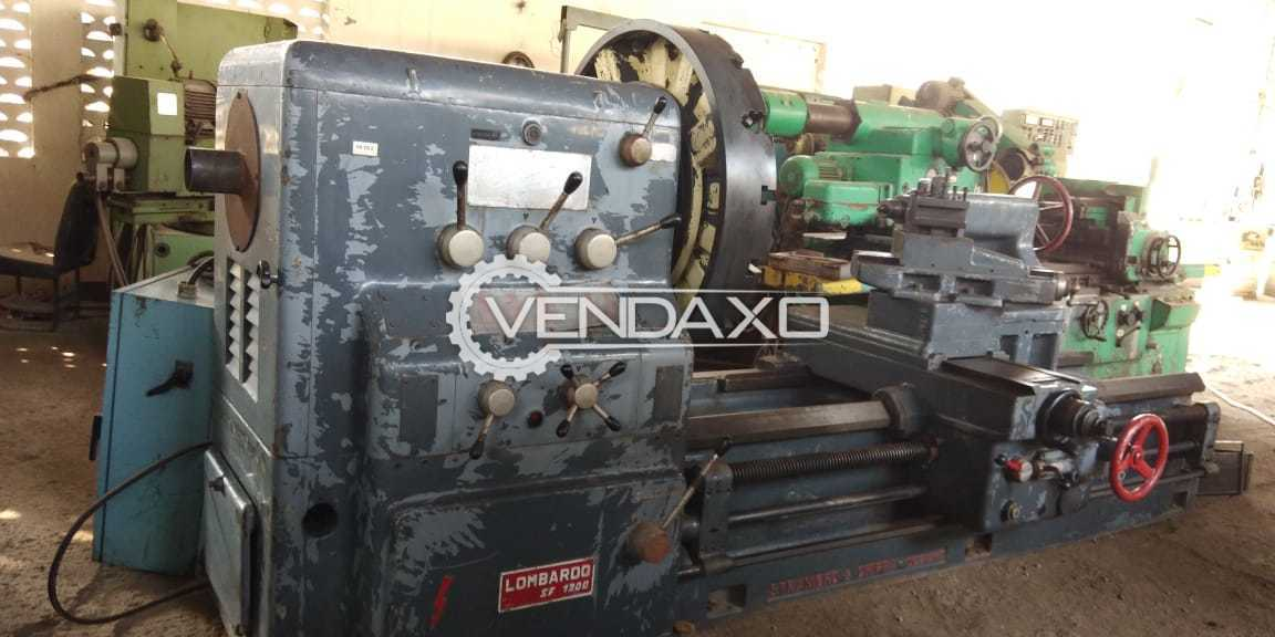 Lombardo Lathe SF 1200 Machine - Facing Chuck  1000 MM