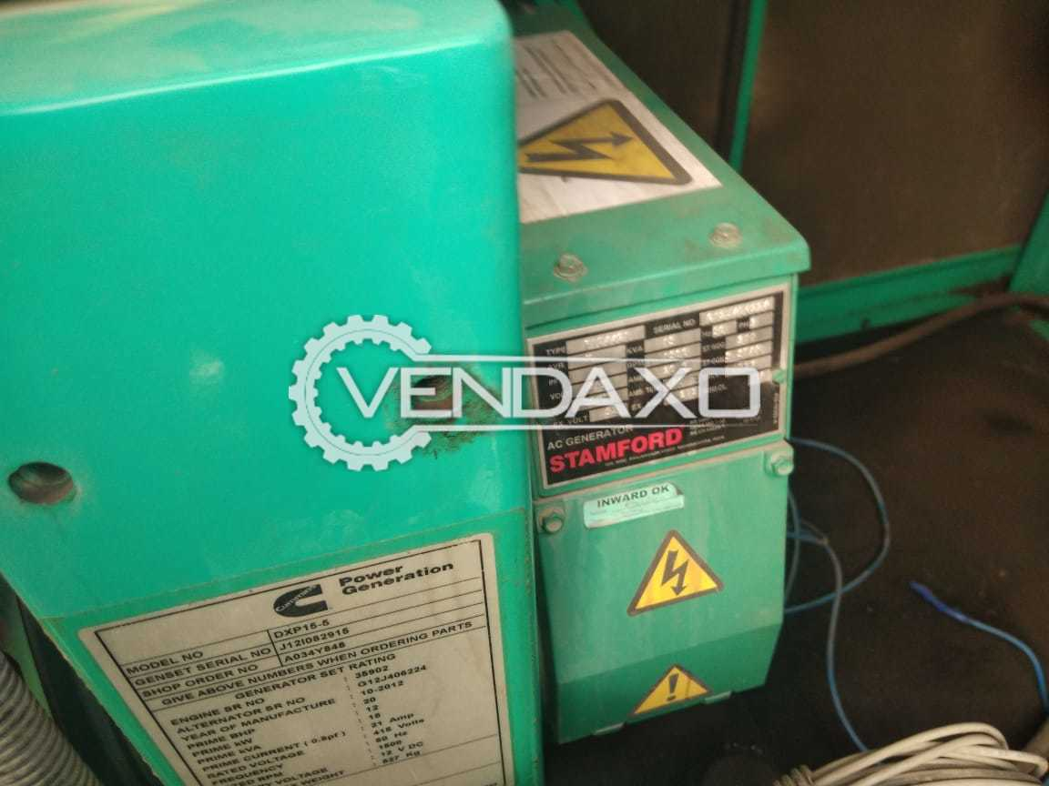 Cummins Diesel Generator - 15 Kva, 2014 Model