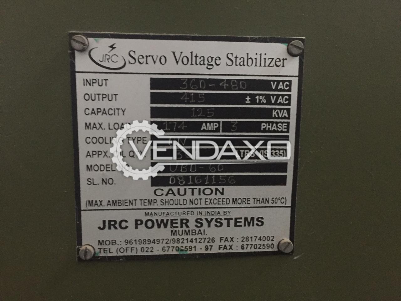JRC UB0-60 Servo Stabilizer - 125 Kva