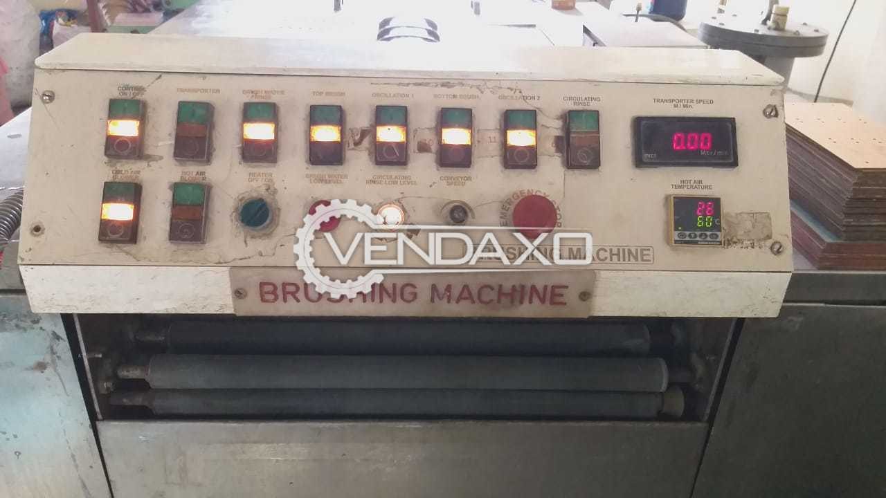 PCB Double side Debur/Scurb/Brushing Machine with oscillation