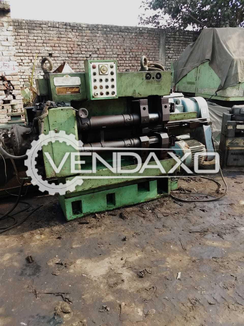 Used Praga Escoffier 542 Spline Thread Rolling Machine for