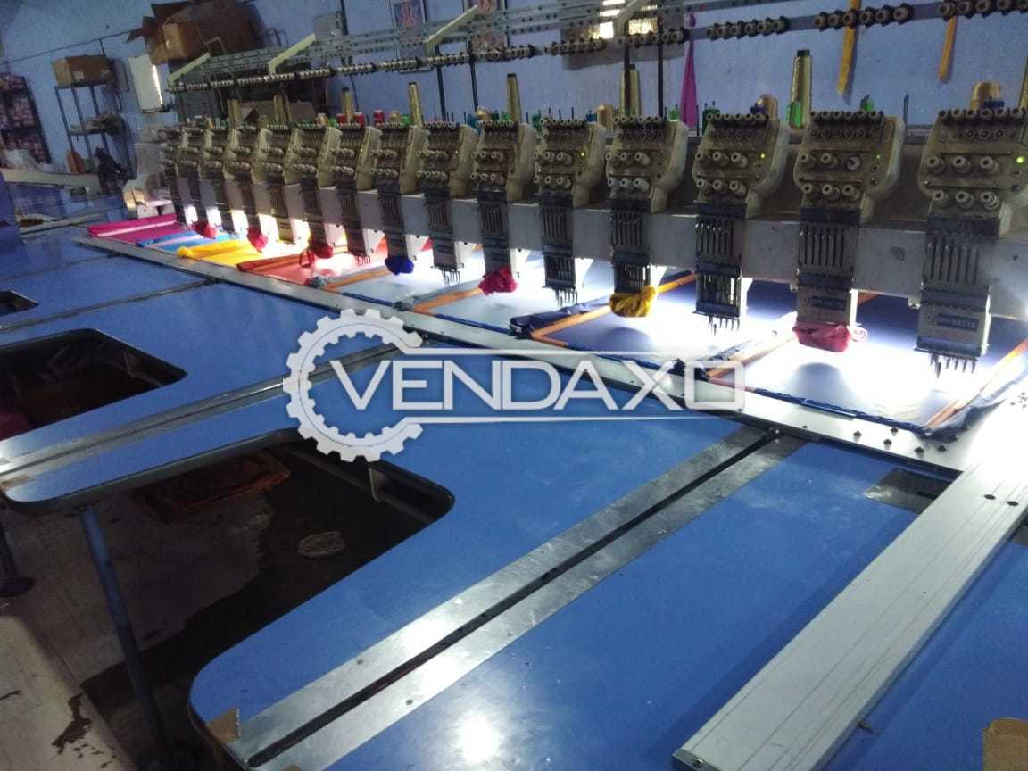 OM Satya Computerized Embroidery Machine - 15 Head, 250