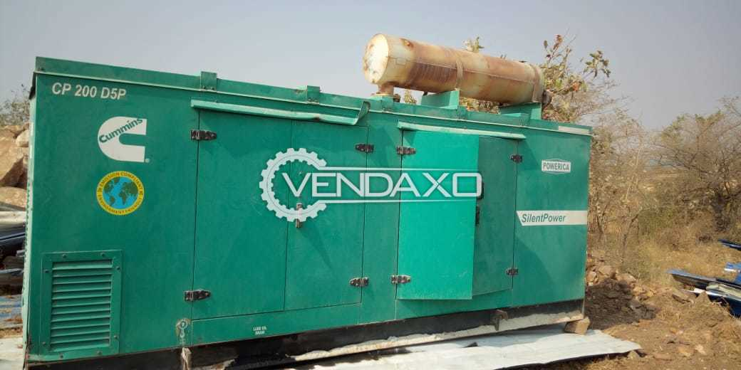 Cummins Silent Diesel Generator - 200 kVA