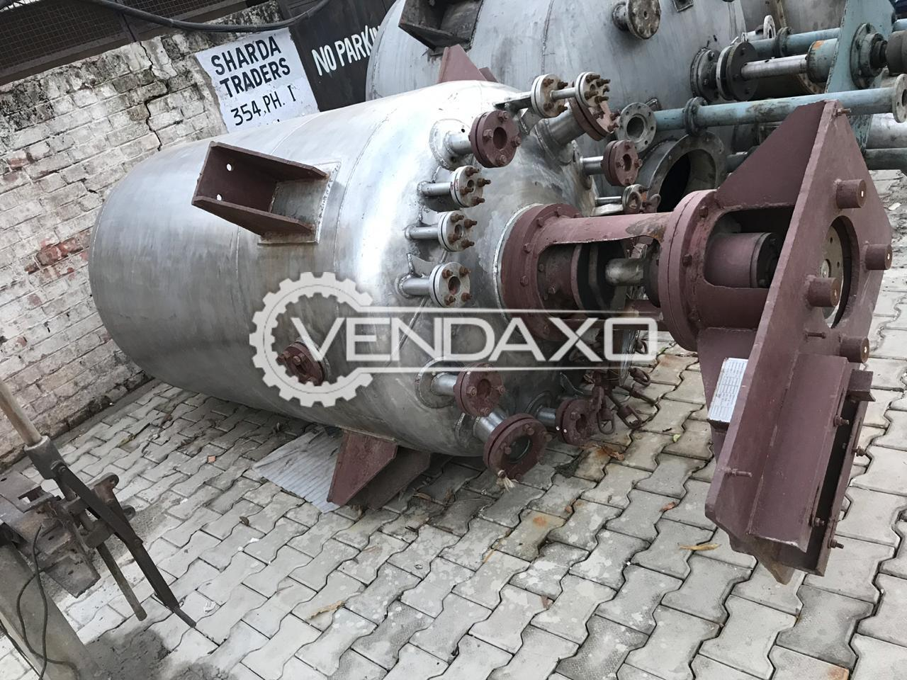 SS 316 Reactor with gear box motor - 2000 Ltr