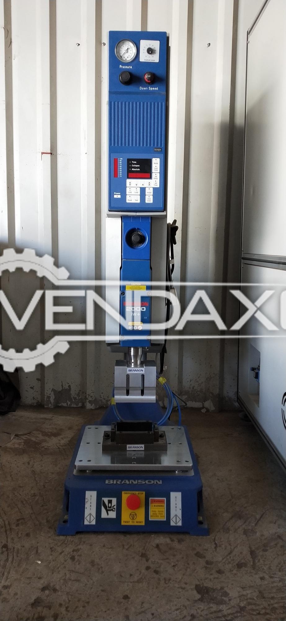 Branson 2000 IW+ Ultrasonic Plastic part Sealing(welding) Machine - Power - 22 KW