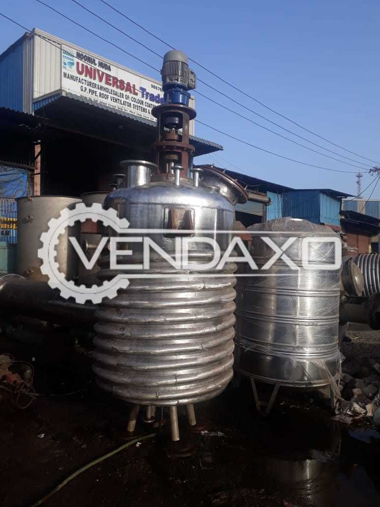 SS 316 Double Coil Reactor - 2 KL