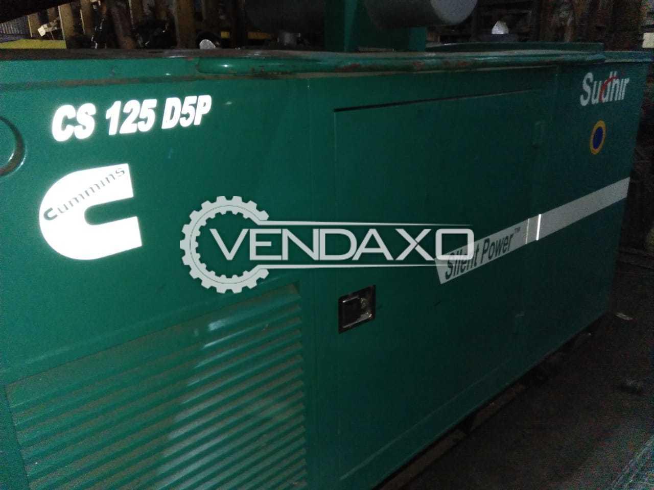 Cummins CS 125 D5P Silent Diesel Generator - 125 kVA