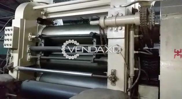 Used 4 Roll Rubber Calendar Machine - 10 X 30 Inch & 3 Roll Rubber