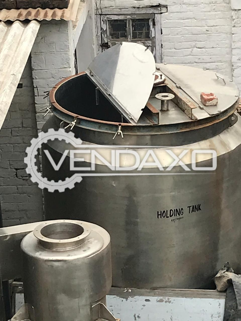SS 304 GMP Jacketed Mixer - 3500 Liter  With Complete Gearbox Motor