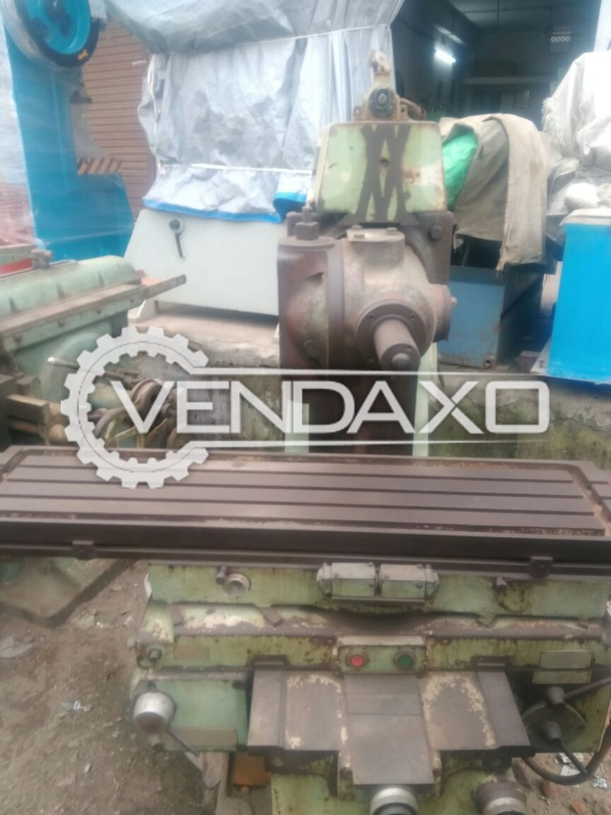 Horizontal and vertical milling machine size no. 3 4
