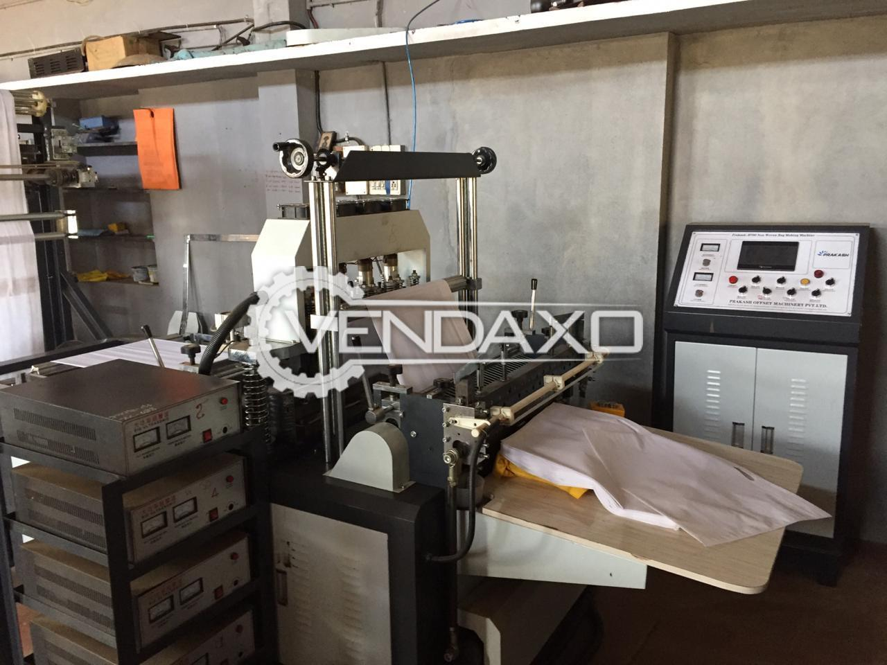 Available For Sale Loop Punching, W-Cut, Non Wovan Bag Making Machine