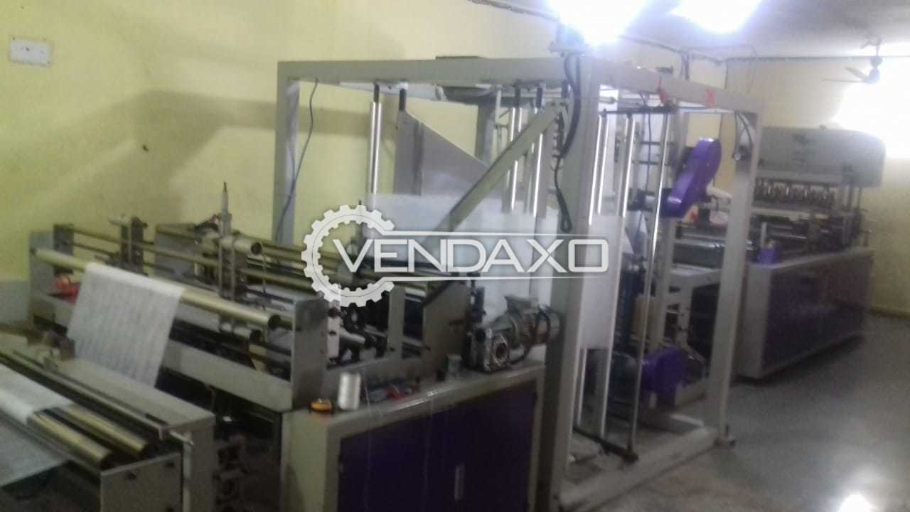 Available For Sale D-cut, W-cut and Box Type Bags-Cutting- Non woven Bag Machine with Air Compressor