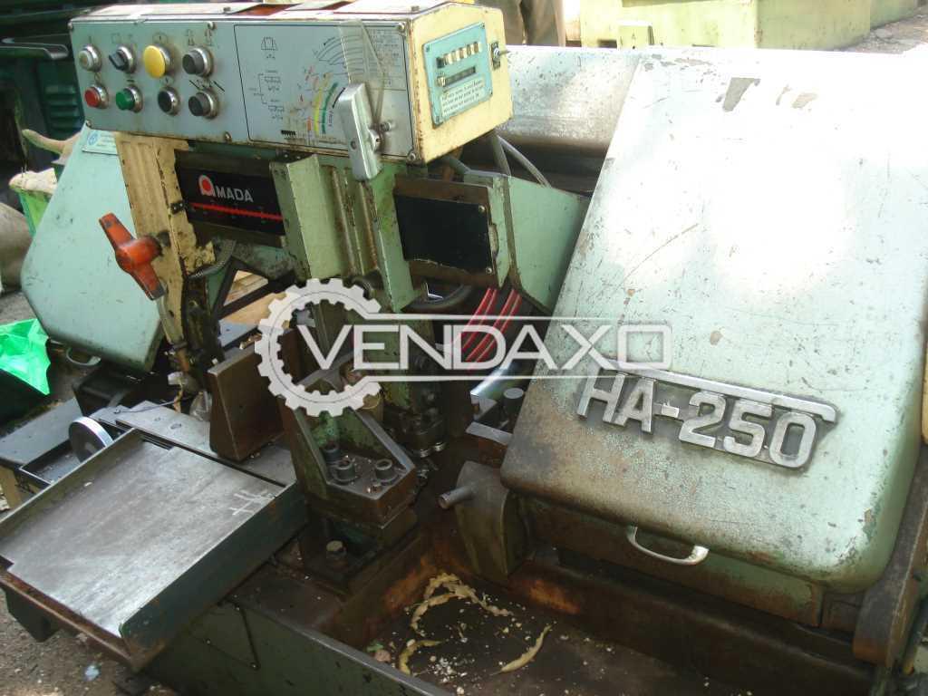 Amada HA 250 Bandsaw Machine - Dia. - 250 MM