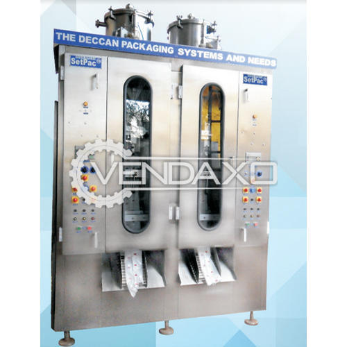 Deccan Make Liquid Pouch Filling FFS Machine - 500 ML to 2000 ML, Double head