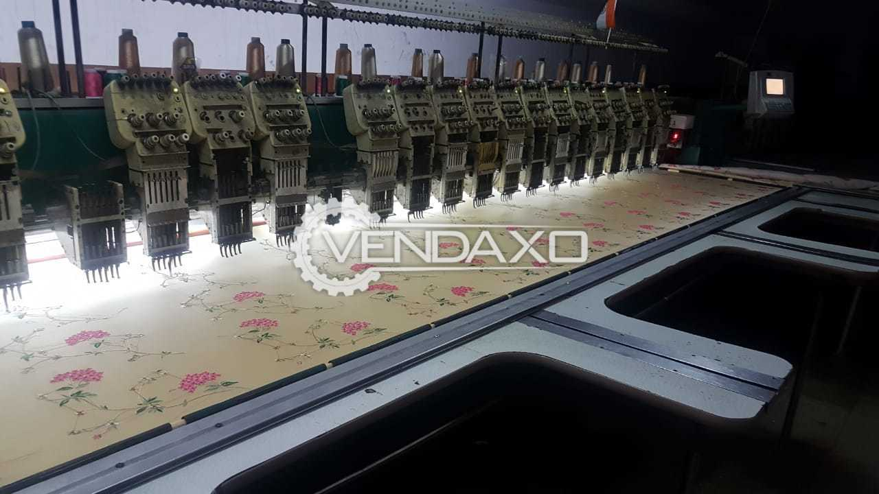 2 Set Of Embroidery Machine - Size -  60 x 125 Inch