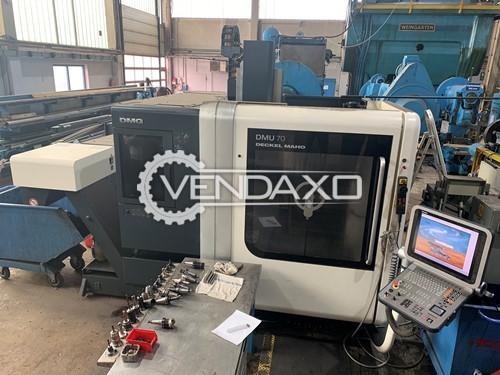 Deckel Maho DMU70 CNC Vertical Machining Center - Table Size 600 x 800 mm