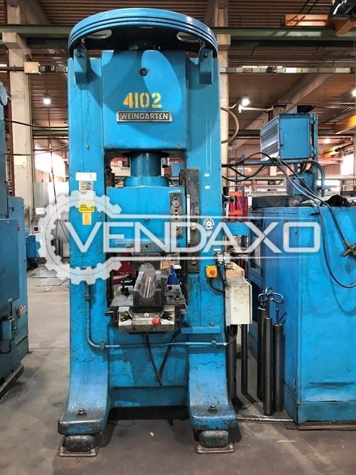 Weingarten P140 Double Column Spindle Friction Press Machine - 140 Ton