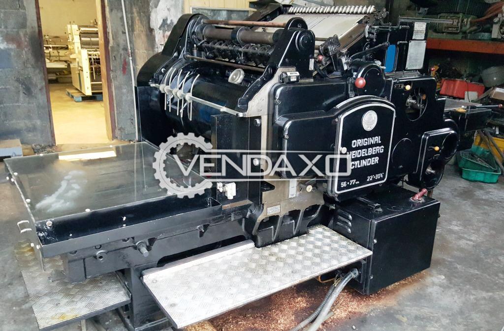 Heidelberg SBGX Cylinder Die Cutter Machine - Size - 22 x 30 Inch