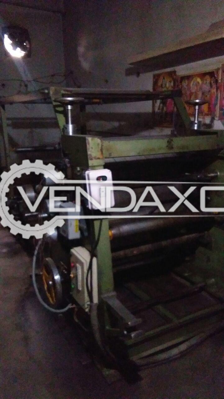 Bearing mounted e flute type corrugation machine 2