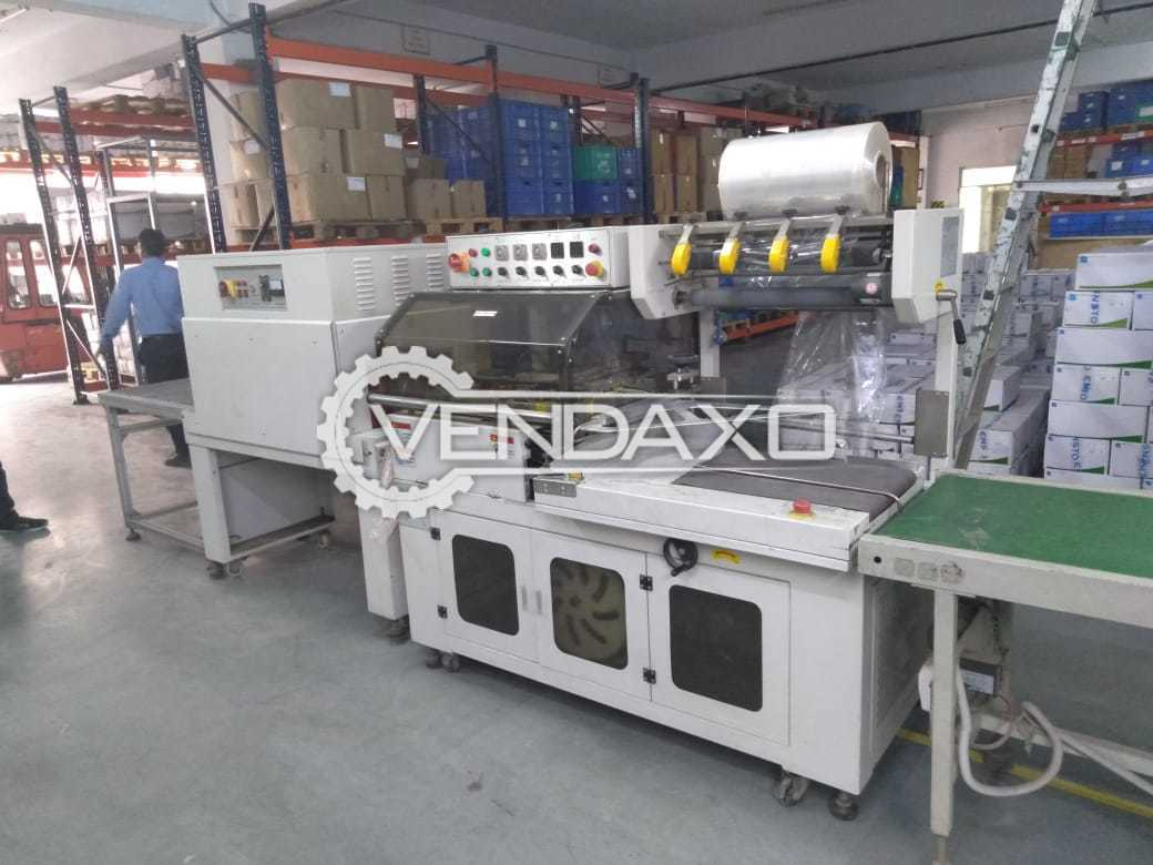 Available For Sale Automatic L Type Sealing, Shrinking Wrapping, Conveyor Machine