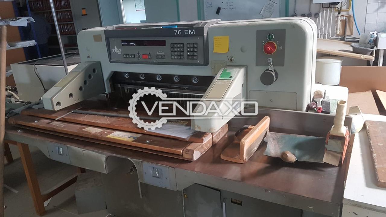 Polar 76EM Paper Cutting Machine - 30 Inch, 1995 Model