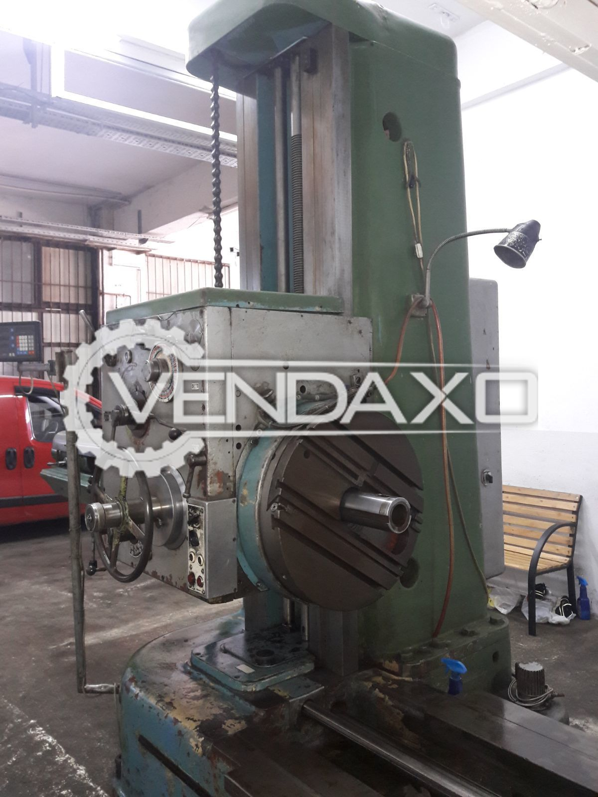 TOS H100 Horizontal Boring Machine - Table Size: 1250mm X 1250mm